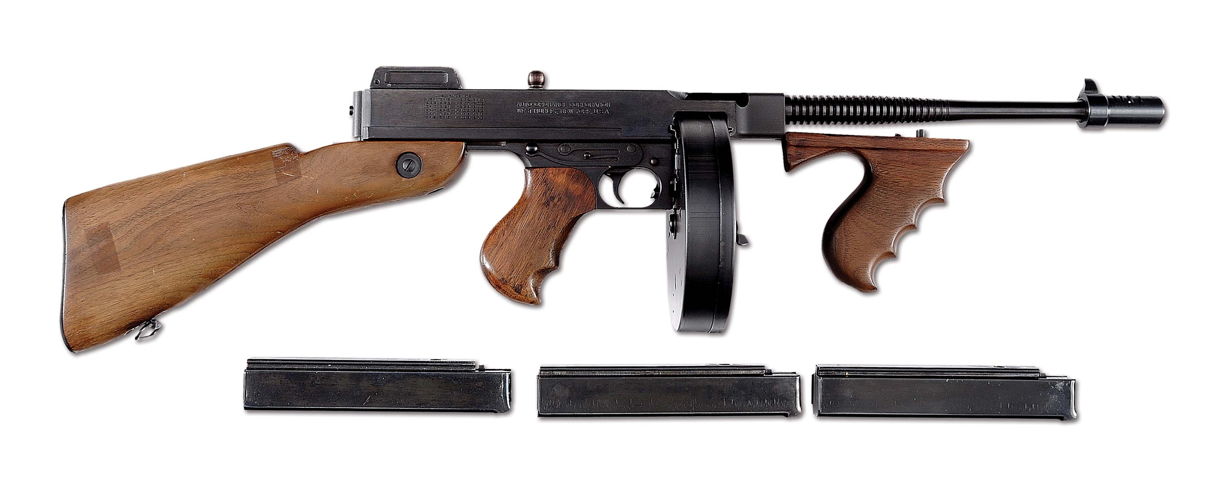 (N) EXCEEDINGLY FINE WEST HURLEY MODEL 1928 THOMPSON MACHINE GUN (CURIO & RELIC).