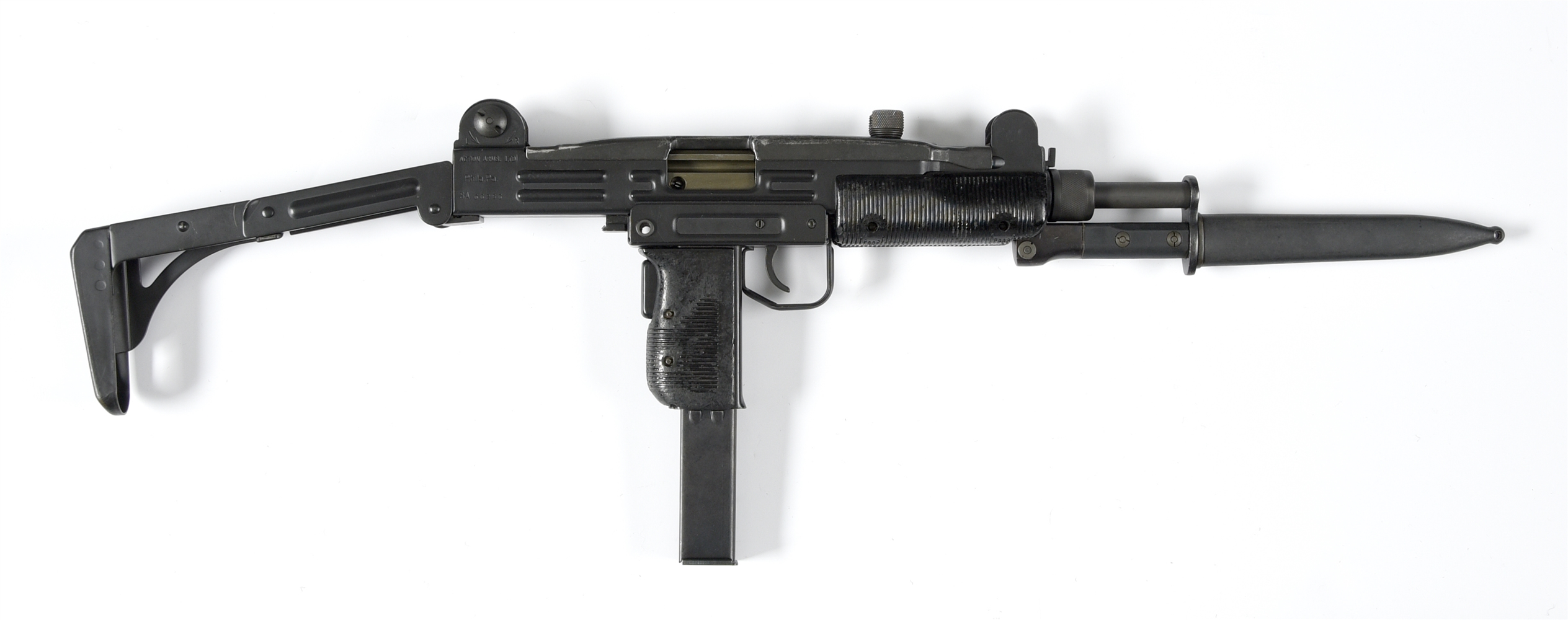 (N) LA FRANCE AUTO SEAR IN IMI UZI MODEL B HOST GUN MACHINE GUN WITH GEM TEC SUPPRESSOR AND ACCESSORIES (FULLY TRANSFERABLE).