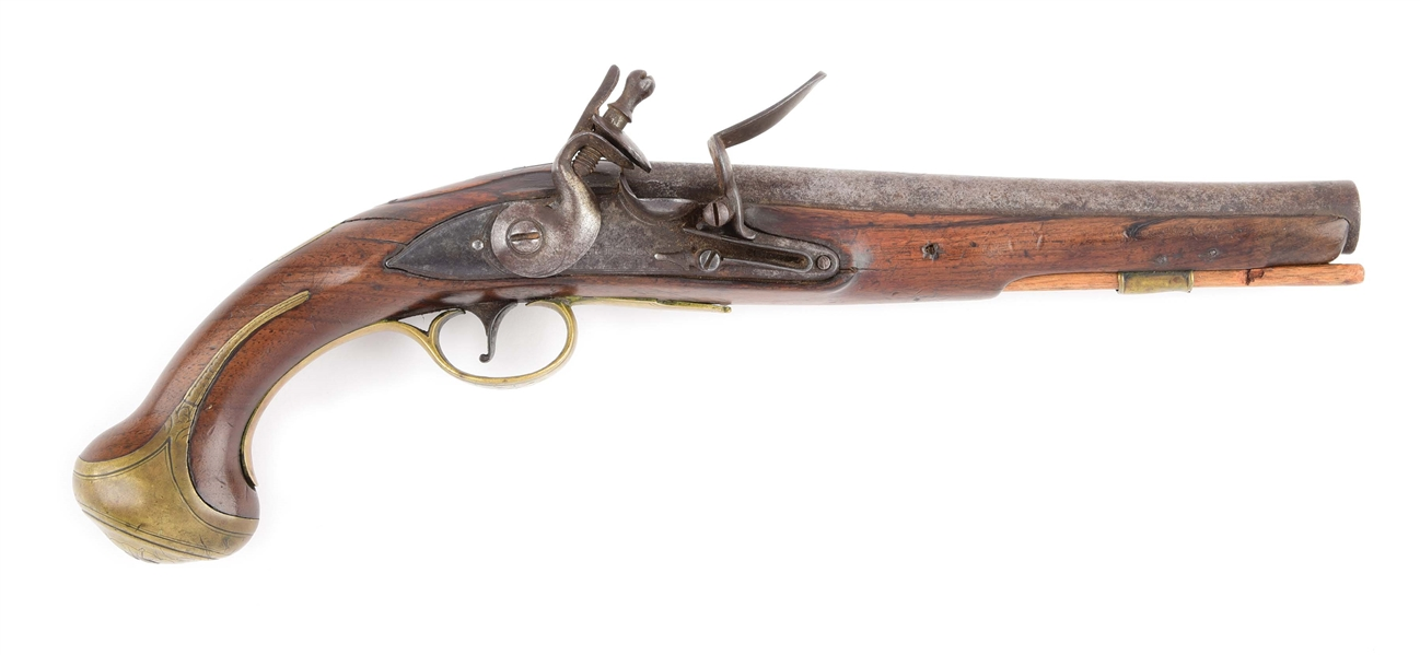 (A) BRITISH FLINTLOCK OFFICERS PISTOL BY GRIFFIN OF LONDON.