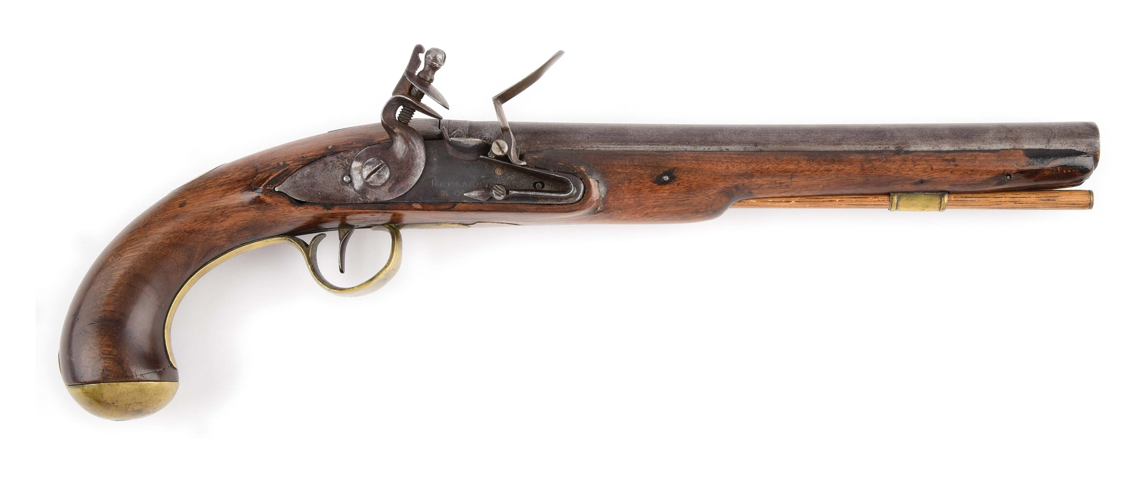 (A) FLINTLOCK PISTOL MADE FOR THE AMERICAN MARKET.