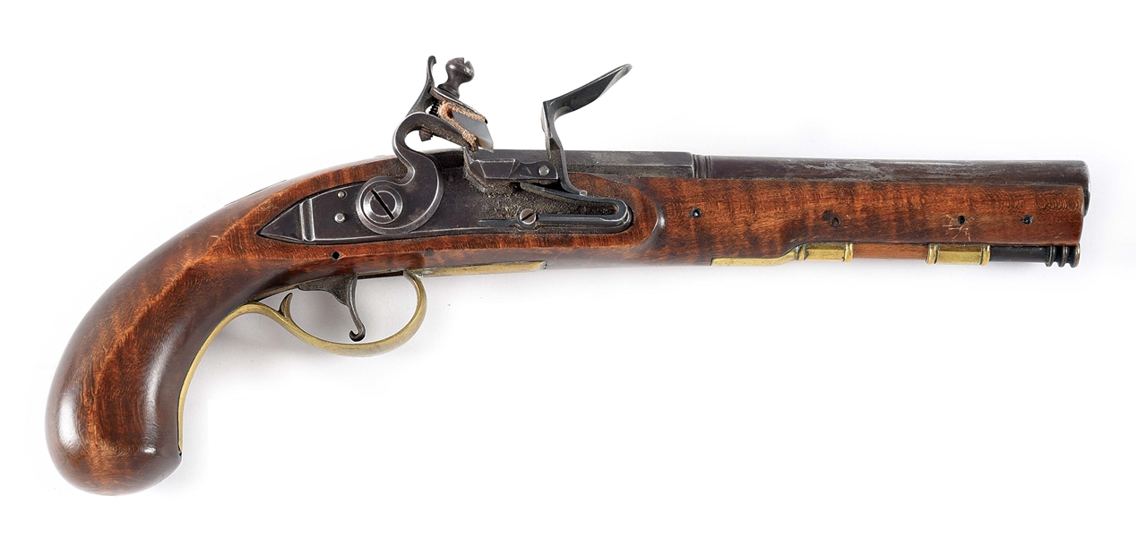 (A) MODERN PRODUCTION FLINTLOCK PISTOL.