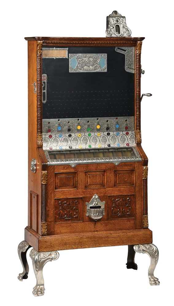 5¢ MILLS CRICKET COIN DROP SLOT MACHINE.