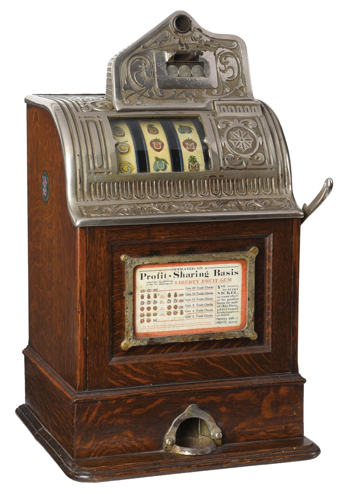 5¢ CAILLE BROS. OPERATORS BELL SLOT MACHINE.