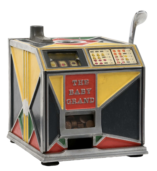 1¢ C & F MANUFACTURING CO. THE BABY GRAND SLOT MACHINE.