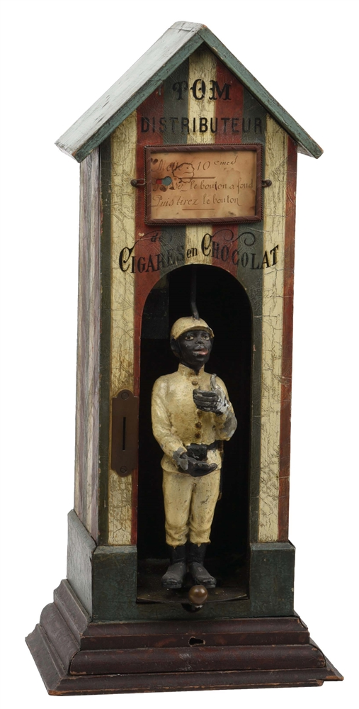 FRENCH GUARDHOUSE CHOCOLATE CIGAR VENDING MACHINE.