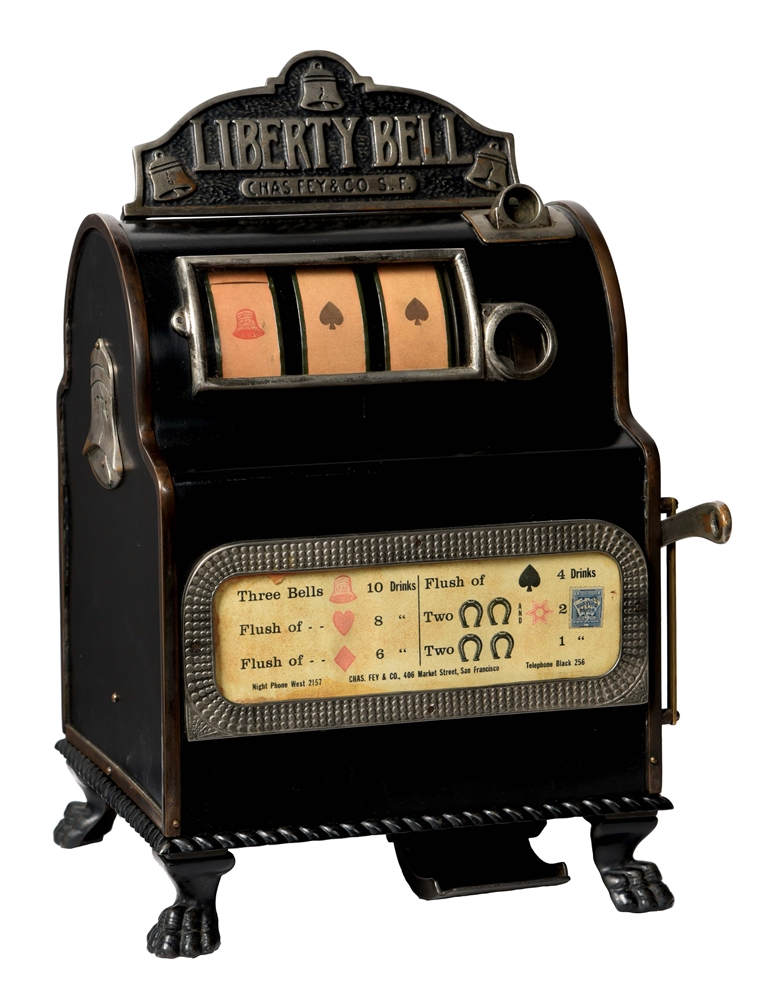 5¢ CHARLES FEY LIBERTY BELL SLOT MACHINE.