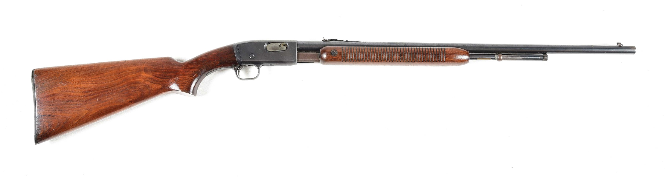 (C) REMINGTON MODEL 121 FIELDMASTER .22 LR PUMP ACTION RIFLE.