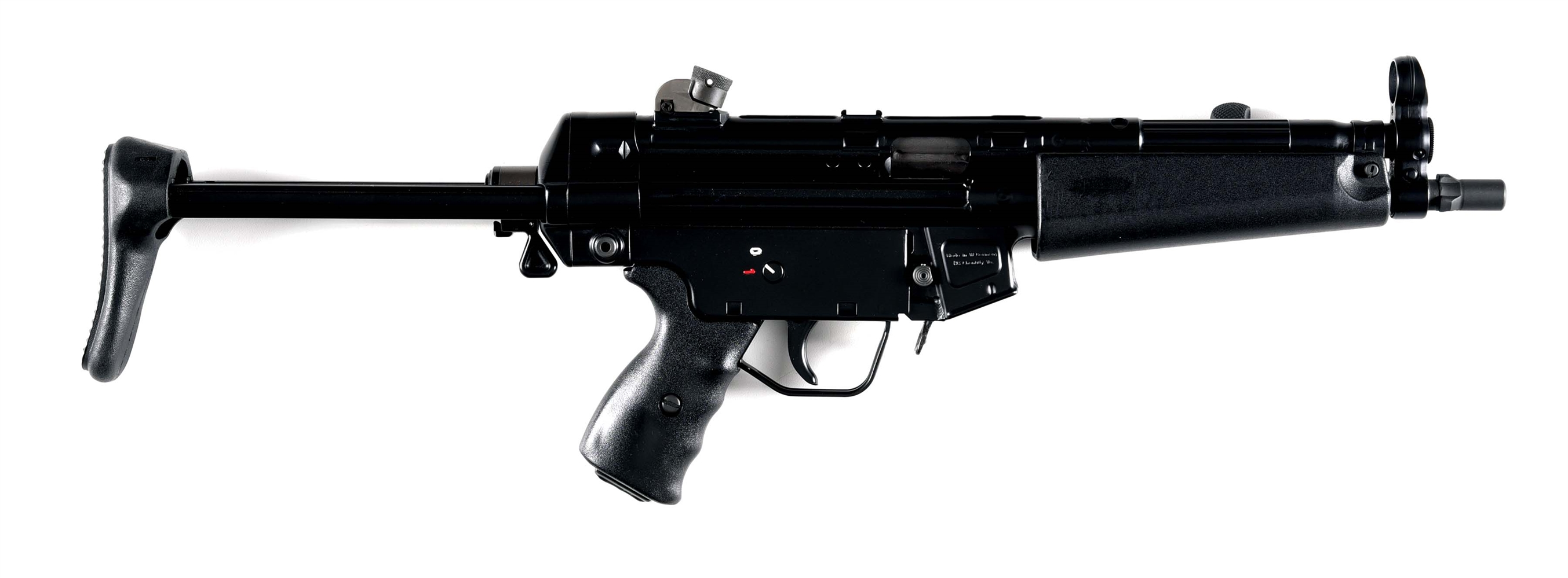 (N) CJM MACHINE SHORT BARRELED RIFLE HK MP5 CONVERTED FROM AN HK94 SEMI-AUTOMATIC RIFLE (SHORT BARRELED RIFLE).