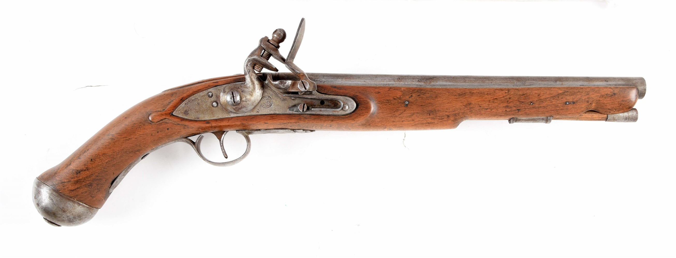 (A) REPRODUCTION FLINTLOCK SEA SERVICE PISTOL.