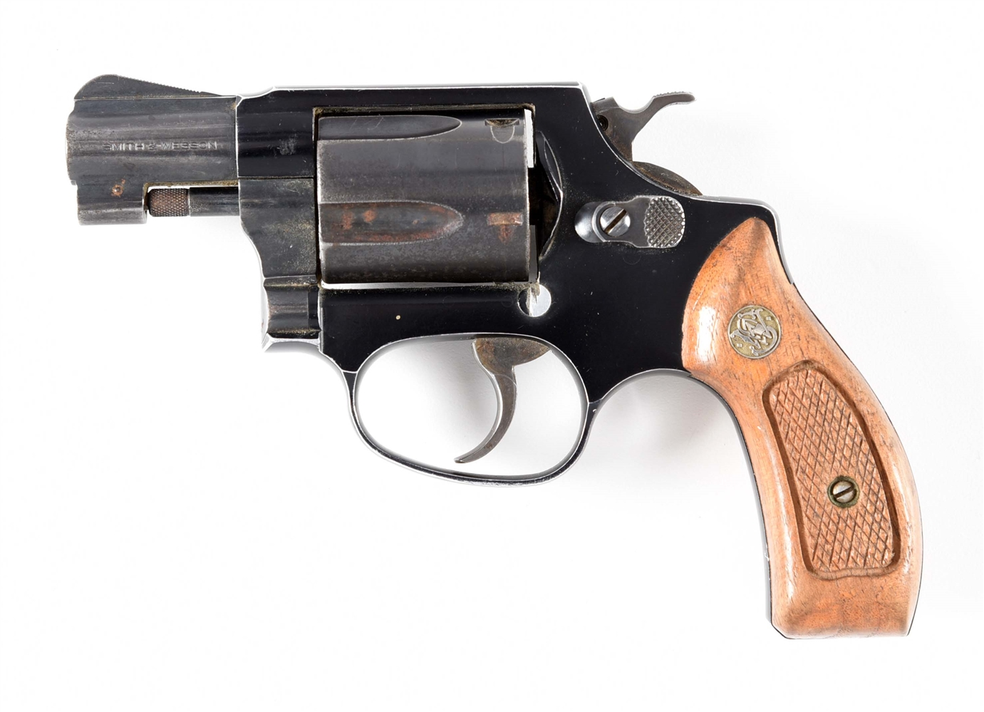 (M) SMITH & WESSON MODEL 37-2 AIRWEIGHT DOUBLE ACTION .38 REVOLVER.