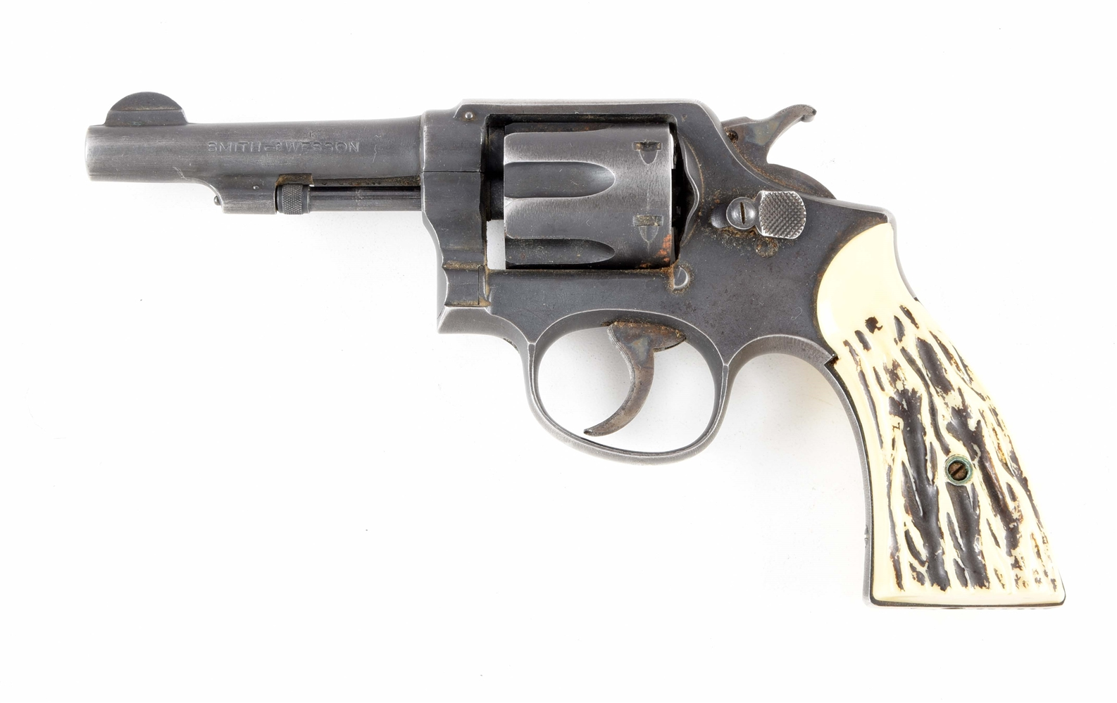 (C) SMITH & WESSON HAND EJECTOR DOUBLE ACTION .38 REVOLVER.