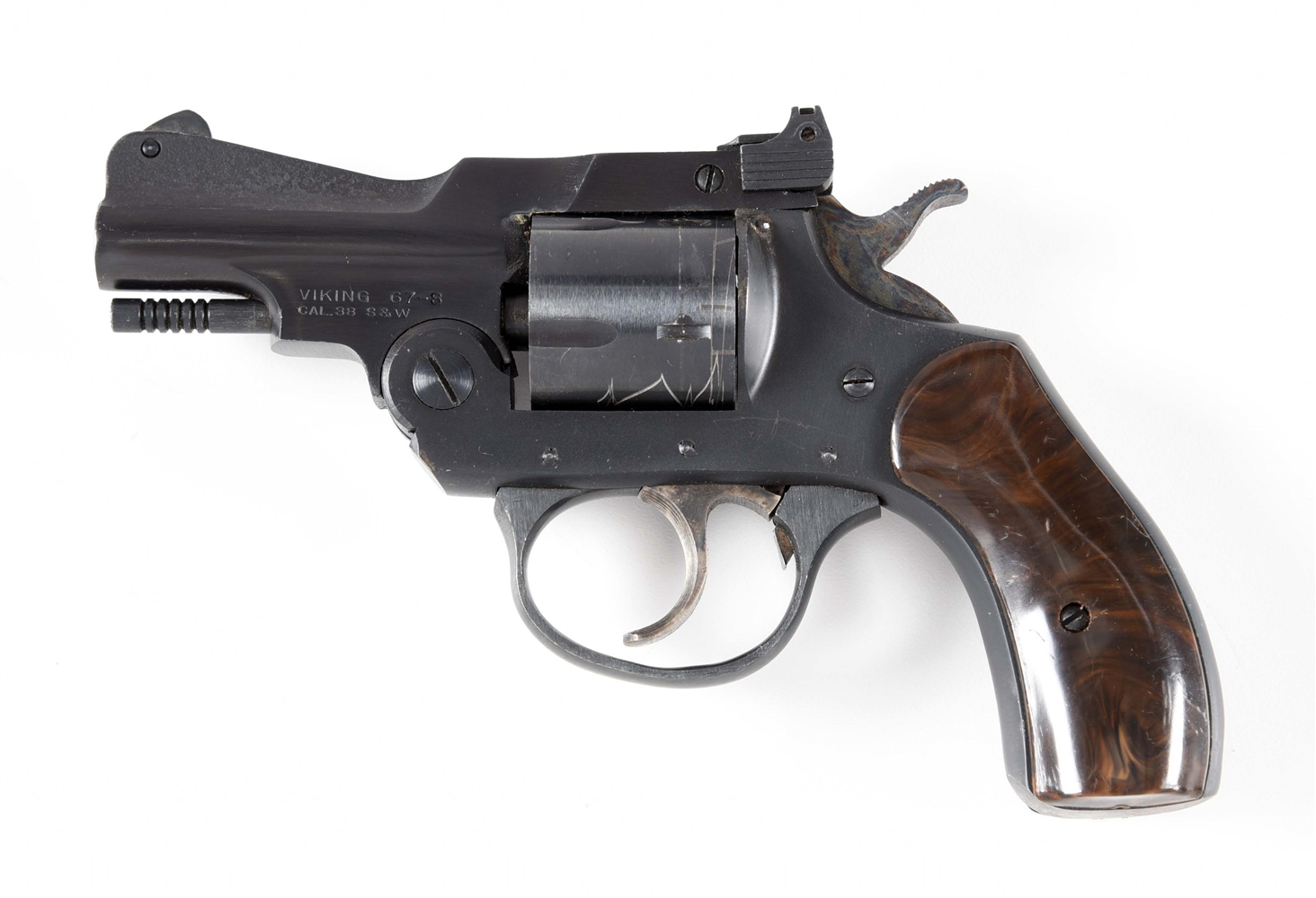 (M) IVER JOHNSON VIKING 67-S DOUBLE ACTION .38 REVOLVER.