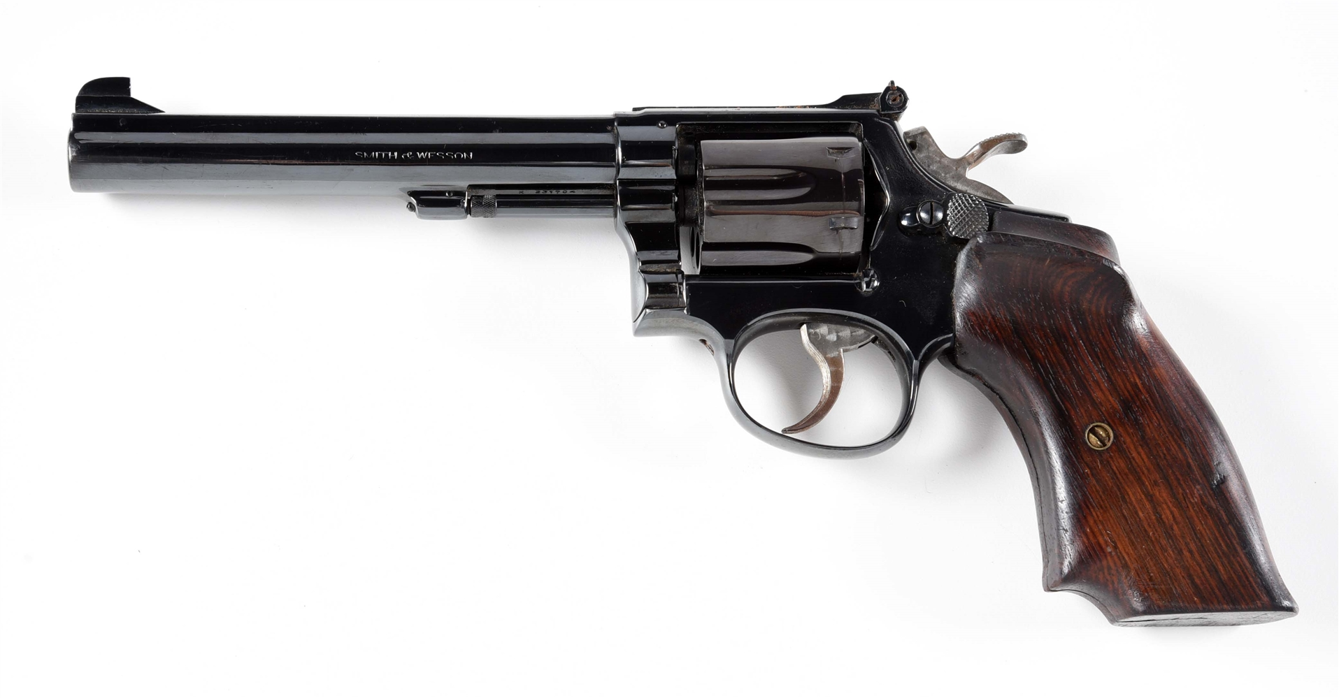 (C) SMITH & WESSON HAND EJECTOR DOUBLE ACTION REVOLVER.