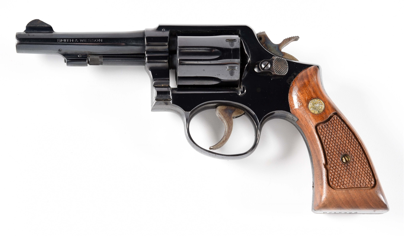 (C) SMITH AND WESSON MODEL 10-5 DOUBLE ACTION REVOLVER.
