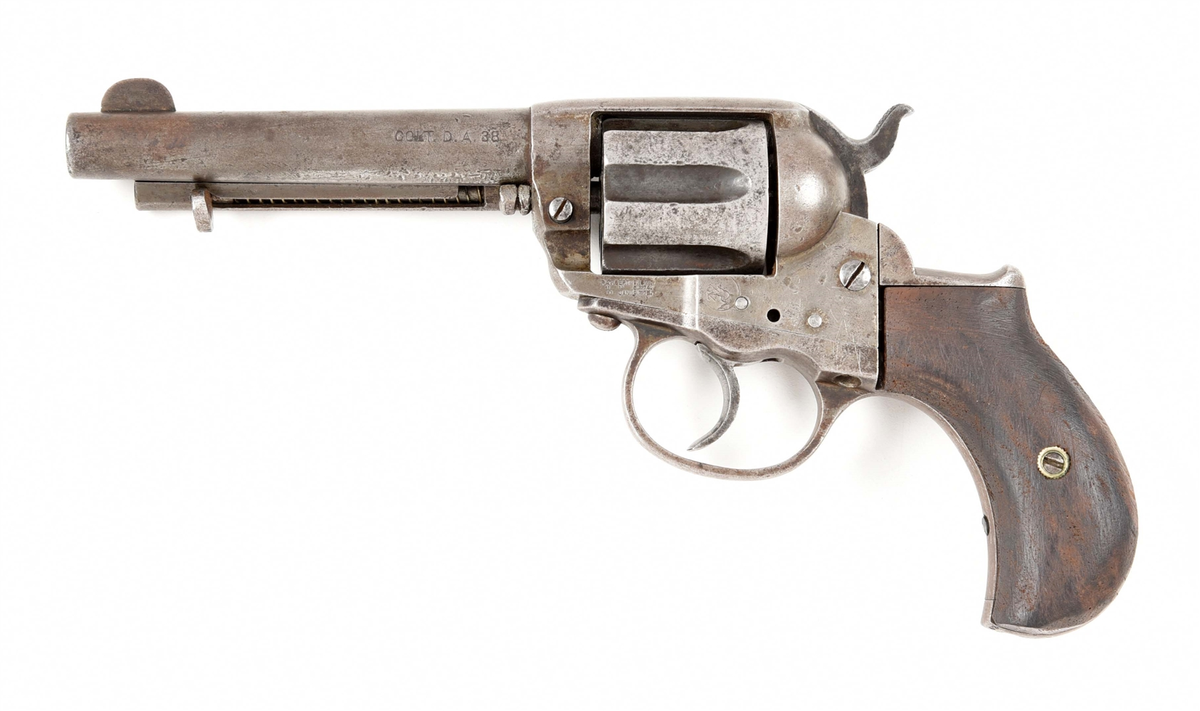 (C) COLT 1877 LIGHTING 38 DOUBLE ACTION REVOLVER.