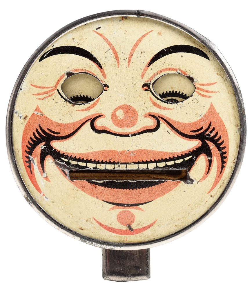 CLOWN FACE - ROUND - TYPE 2 MECHANICAL BANK.