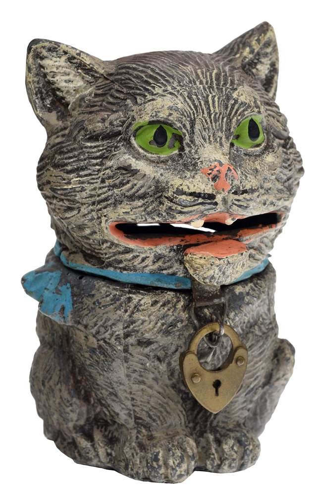 CAT - SPRING JAWED MECHANICAL BANK.