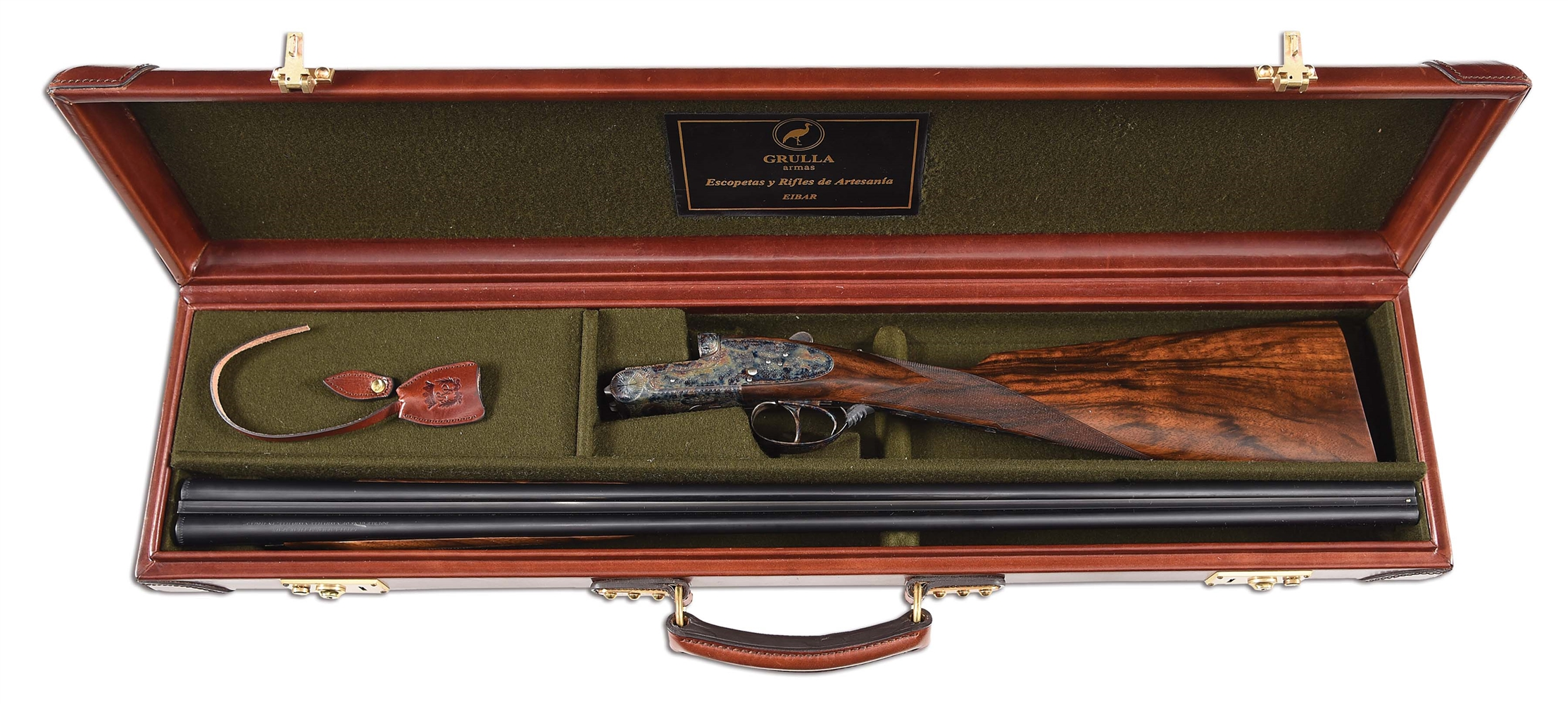 (M) CASED GRULLA ARMAS 216RB SIDE BY SIDE .410 BORE SHOTGUN.