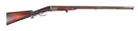 (A) HISTORICALLY IMPORTANT ROENNE ROTARY LEVER 12 GAUGE SHOTGUN, PART OF THE CONVERSION FROM PERCUSSION TO BREECHLOADER.