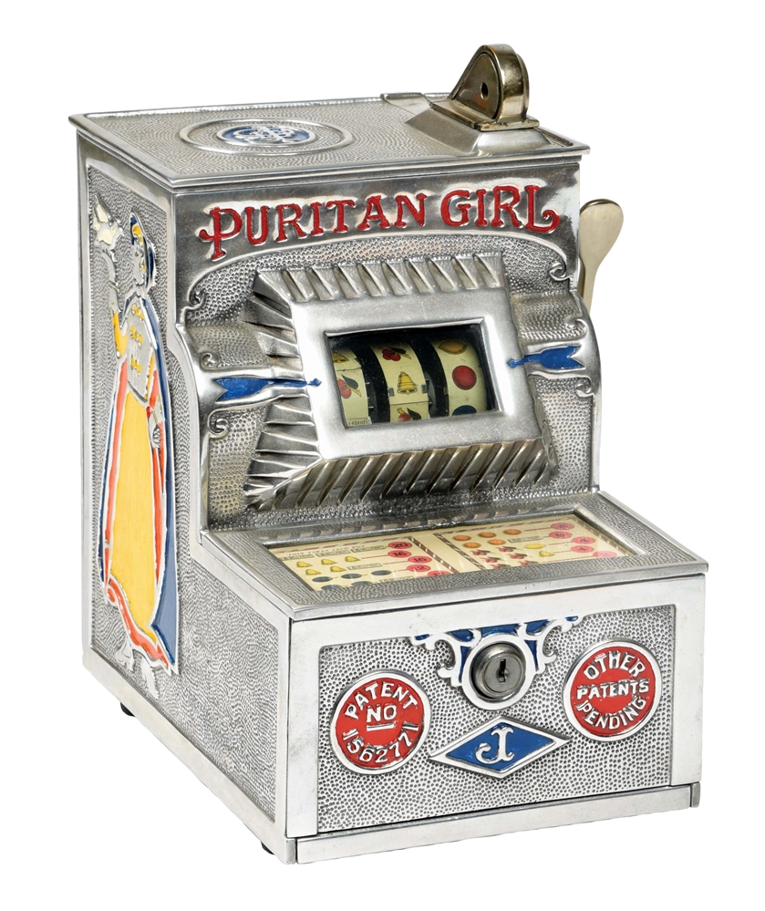 5¢ JENNINGS PURITAN GIRL TRADE STIMULATOR.