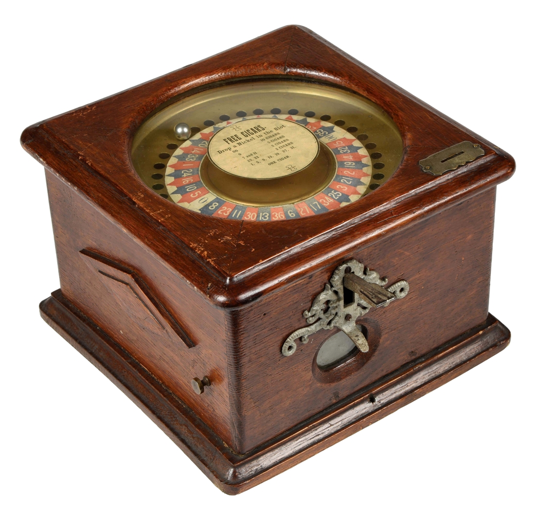 5¢ WESTERN AUTOMATIC MACHINE CO. IMPROVED ROULETTE TRADE STIMULATOR.